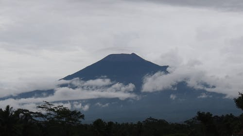 View O A Mountain Surrounded With Clouds