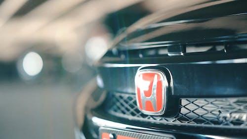 Close-Up Video Of Honda Emblem