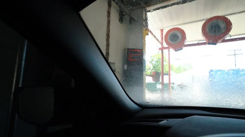 Car Being Cleaned In A Carwash