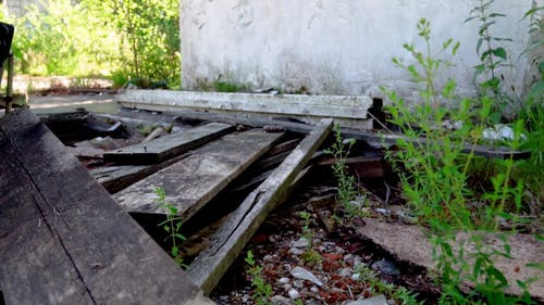 Video Of Decaying Wood Planks Outside An Old Building