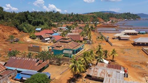Drone Footage of a Coastal Village