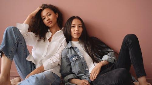 Female Models Looking at Camera