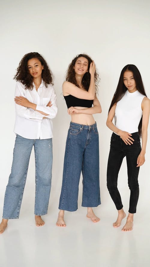 Three Women Posing In Their Casual Wear