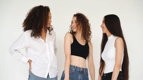 Three Women Having Fun Time