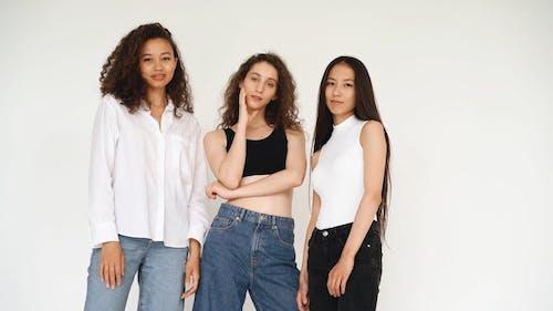 Three Beautiful Women In Casual Wear