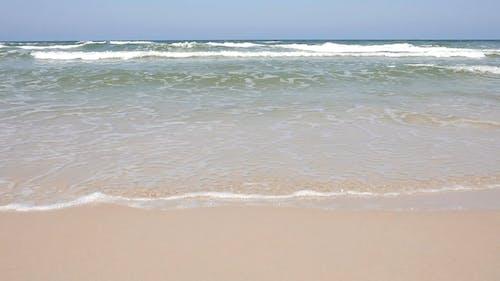 Close Up View of a Crashing Waves at the Beach