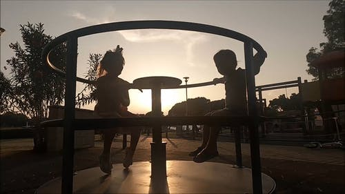 Video Of Children Playing In Playground During Dawn