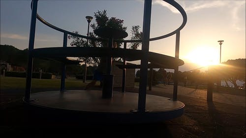 Video Of Child Playing Outdoors During Dawn
