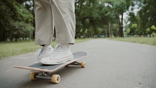 Man On A Skateboard Doing A Jump
