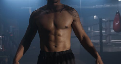 The ell Chiseled Body Of A Shirtless Man