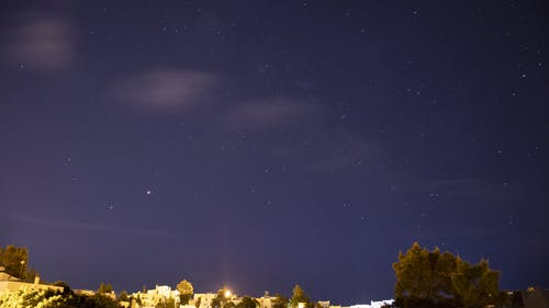 Time Lapse Video Footage Of The Starry Sky At Night