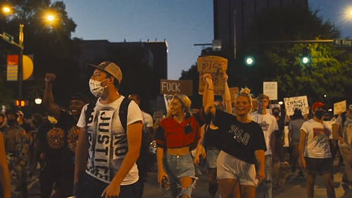Video Of Protestors On The Street