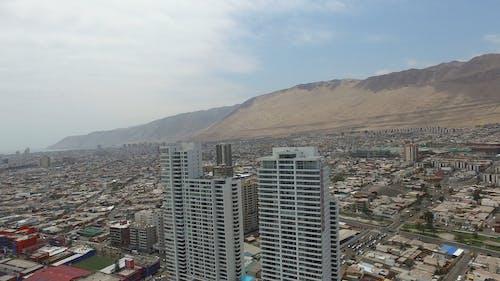 Drone Footage Of City Near Sea