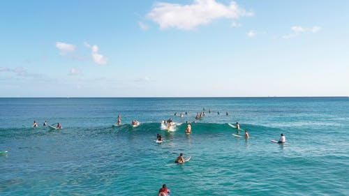 Surfer Riding A Sea Wave