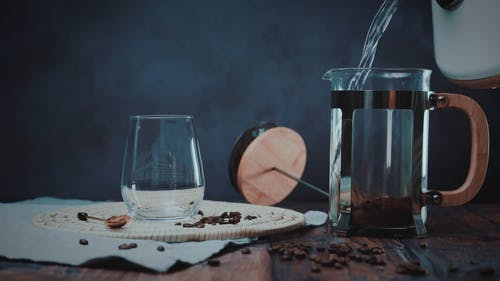 Water Poured in Coffee Press
