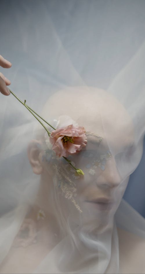 A Model Covered With A Transparent Cloth
