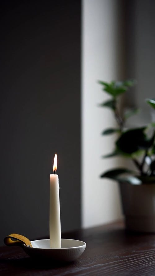Shallow Focus of Burning Candle