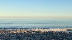 Sea Waves Crashing on Beach Shore