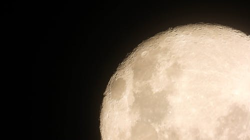 The Moon On Its Full Phase