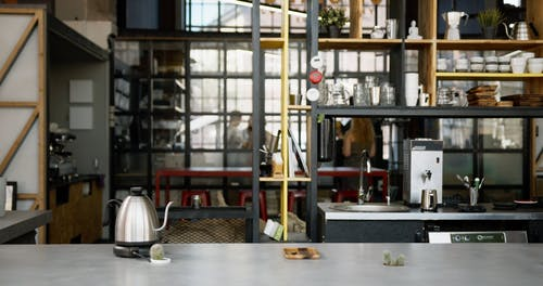 The Bar Inside A Coffee Shop