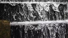 A Man Made Multi-step Water Fountain