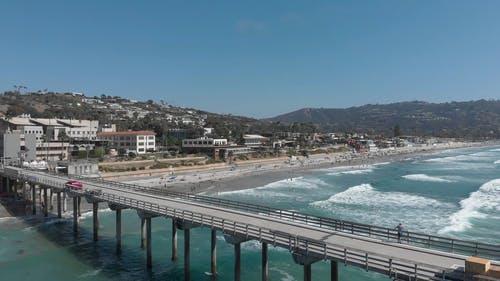 Drone Footage of An Elevated View Deck In A Beach