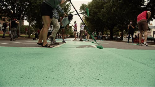 Video Of People Doing Mural Painting