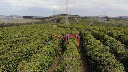 Drone Footage Of Tractor On Work