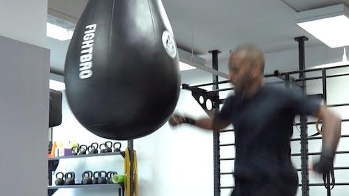 Man Doing Knee Kick