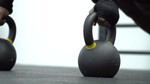 Close-Up Video Of Man Doing Push-Up Exercises