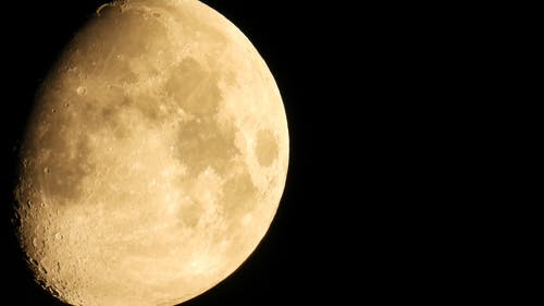 The Moon On Its Waxing Gibbous Phase