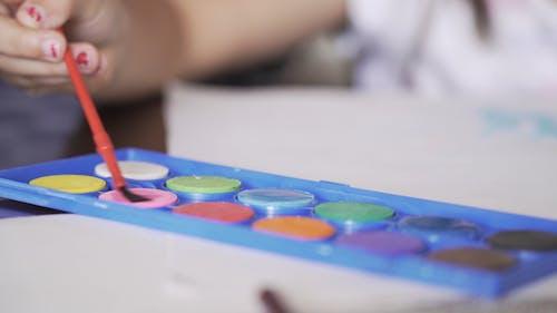 Close-Up View of Color Palette
