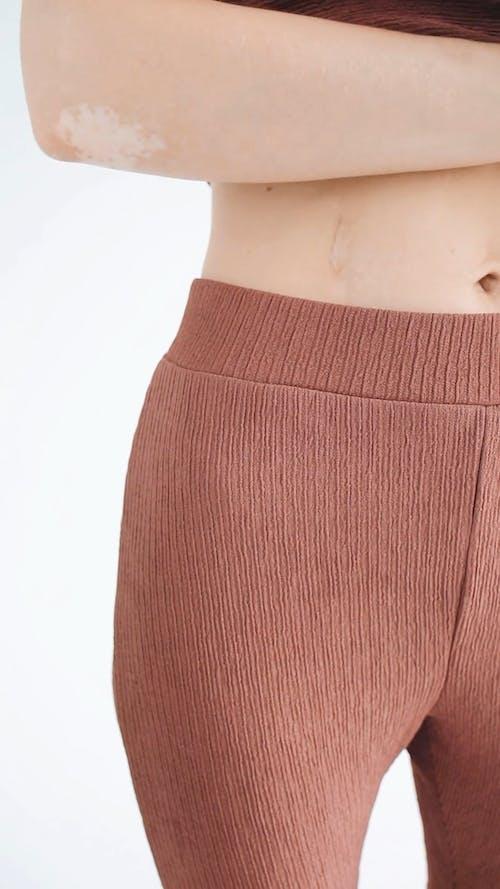 A Deep Scar On A Woman's Belly