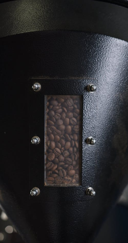 Roasting Coffee Beans In A Roaster machine