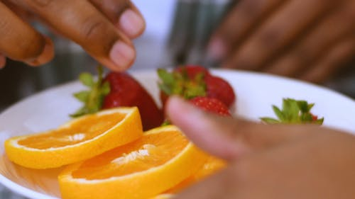 A Serving Of Fresh Fruits In A Plate