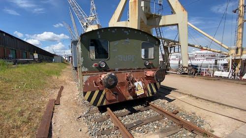 Heavy Harbor Cranes For Ships In The Sea Harbor