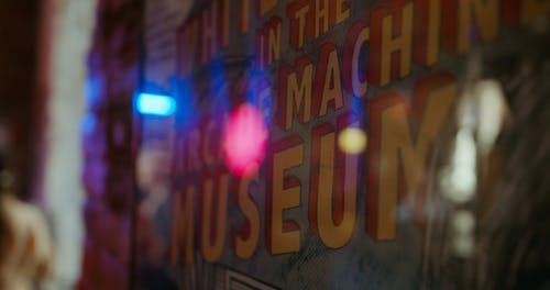 Poster Of Vintage Arcade Machines In A M useum