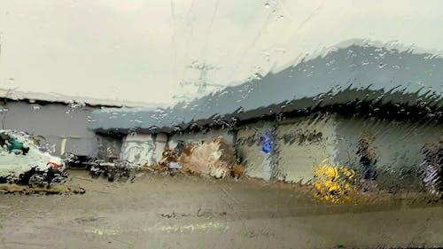 Raindrops on the Glass Window