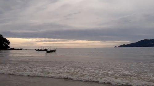 Boats Docked at the Shore