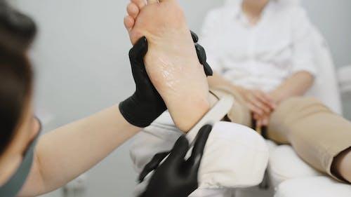 A Woman Having a Pedicure