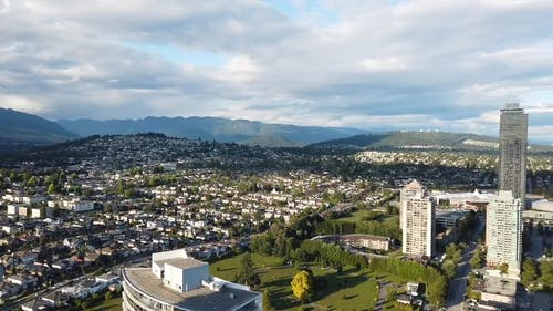 Drone View Of A City Landscape
