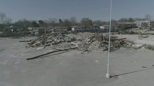 Demolition of a Abandoned Building
