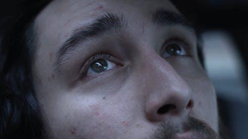 Close-Up Shot of Man's Face