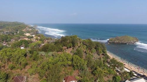 Drone Footage of an Island and Coastline