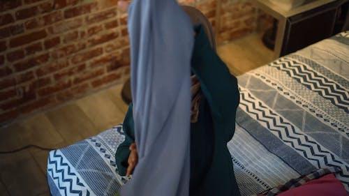 High Angle Shot of Woman Doing a Product Video Blog
