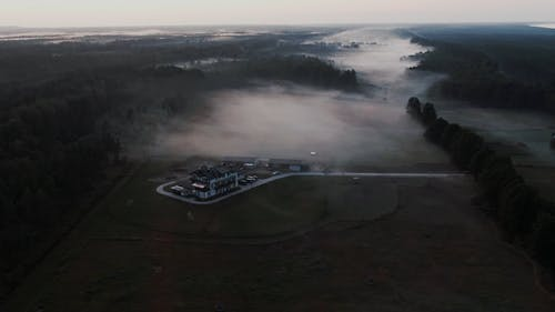 Fog Crawling U On The Open Field