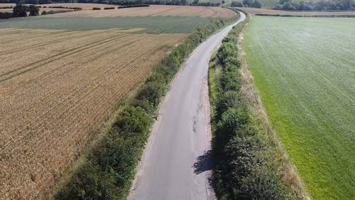Drone Footage of Roadway
