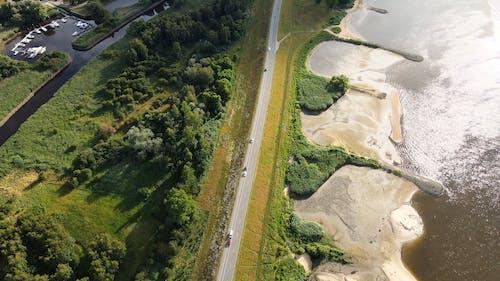 Drone Footage of Roadway Near the Coastline