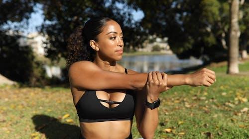 A Beautiful Woman Exercising Outdoor