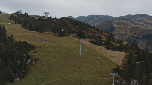 Cable Car in the Mountain